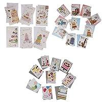 Fenteer グリーティングカード ポップアップ 3D立体カード お祝いカード プレゼント 感謝状 約25枚