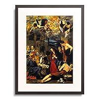 Maino, Fray Juan Bautista,1578-1649 「Adoration of the Shepherds.」 額装アート作品