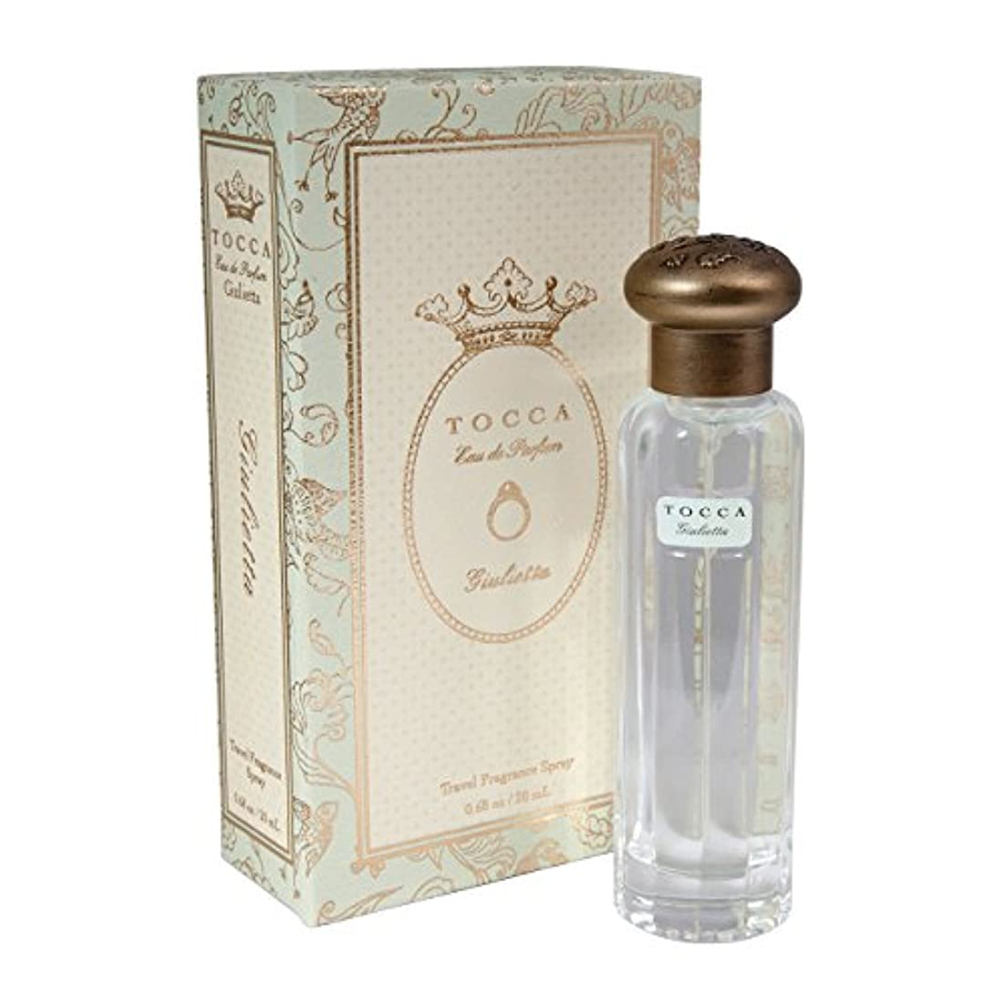 指紋王女原始的なトッカ(TOCCA)  トラベルフレグランススプレー ジュリエッタの香り 20ml(香水 オードパルファム 映画監督と女優である妻とのラブストーリーを描く、グリーンアップルとチューリップの甘く優美な香り)