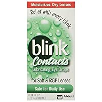 Blink Contacts Lubricating Eye Drops,10 mL (Pack of 2) by AMO Blink