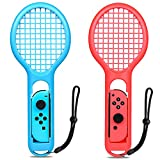 ESYWEN Nintendo Switch Joy-con用テニスラケット 軽量ABS 素材採用 マリオテニスエース ラケット ラケット型ジョイコン用アタッチメント 2個セット(赤&青)