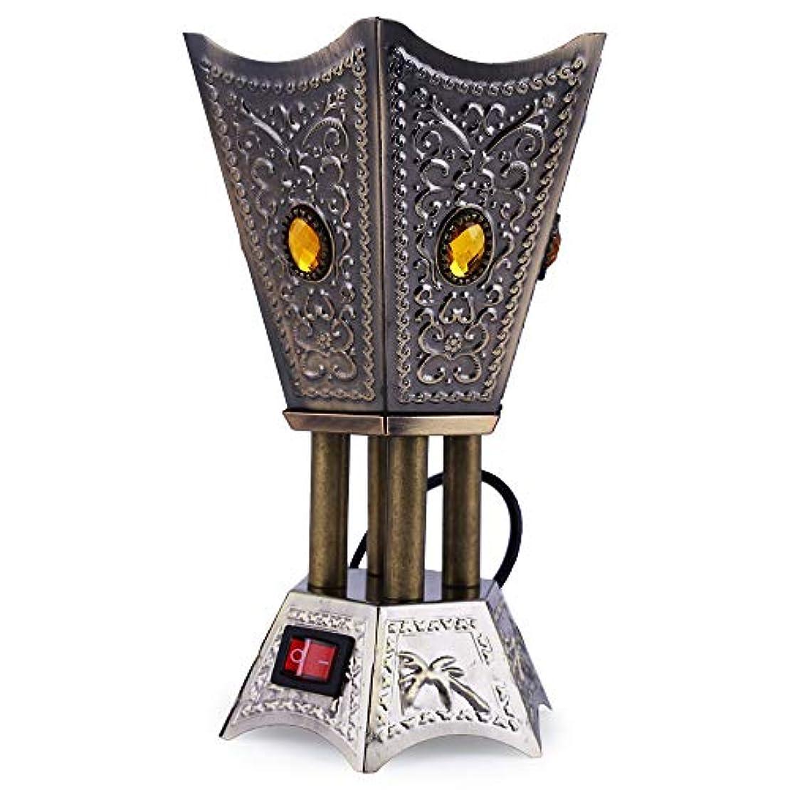 中性とても多くの宿泊Nexxa Antique Electric Bakhoor Burner Electric Incense Burner Camphor- Oud Resin Frankincense for Diwali Gift...