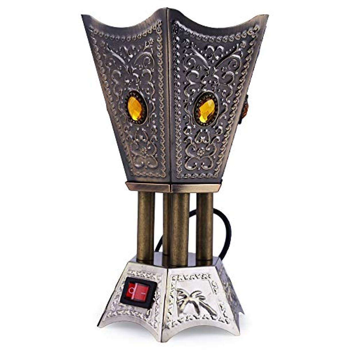 くま能力消えるNexxa Antique Electric Bakhoor Burner Electric Incense Burner Camphor- Oud Resin Frankincense for Diwali Gift...