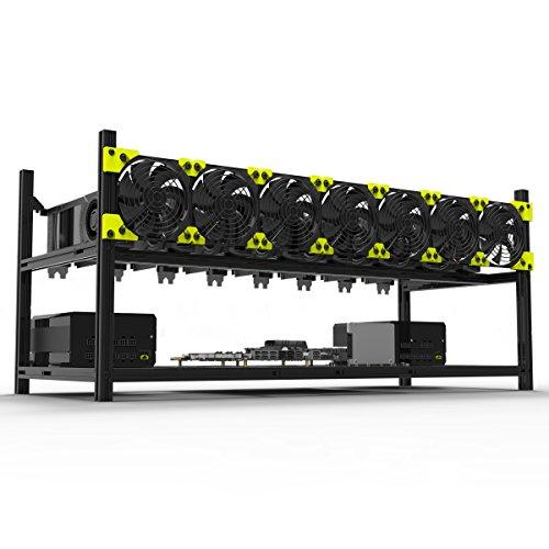 8 GPUアルミニウムスタック可能な鉱山ケースリグオープンエアーフレーム(ETH)/ETC/ZCash/Monero/BTC優れた空気対流設計