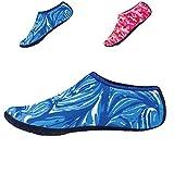 L-RUNJP 男女兼用 ウォーターシューズ 軽量 アクアシューズ シュノーケリング マリン用 やわらかい ソフト 通気 スポーツ 海水浴靴 (XL(24.5-25.5), 迷彩ブルー)