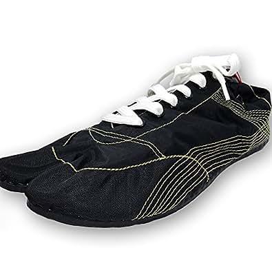 [無敵]MUTEKI 【ランニング足袋】伝統職人の匠技が創り出すランニングシューズ《008-muteki-r-黒》 (25.0)