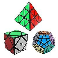 3- Pack人気moyuスピードキューブパズルなど、Skewb Speedcubingブラックパズル、MegaminxスピードCubeパズルand Pyraminxスピードキューブ