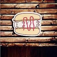 ASHIJIN 漫画の飲み物牛乳卵ピザブローチアクリルピンバッジバックパックのアイコンメダル装飾バッジ