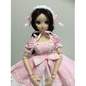 doll SK メイド メイド服 ゴスロリ ゴス カチューシャ ドール用衣装 コス コスプレ 服 DD SD 1/3 サイズなど (ピンク)