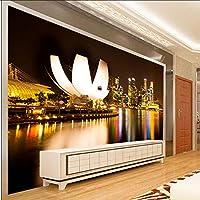 Xbwy 壁画家の装飾は、リビングルームの寝室街の建物の芸術のための3Dを壁紙-350X250Cm