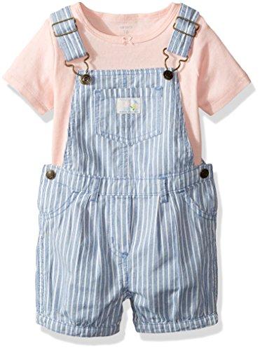 a7b39dd6c7eb8 Cartersベビー女の子2ピースTシャツ デニムオーバーオールセットピンク カラー  ブルー Cartersベビー女の子2 ピースTシャツ デニムオーバーオールセットピンク カラー  ...
