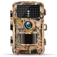 Campark トレイルカメラ 1200万高画質 120°広角レンズ 42枚LED赤外線検知器搭載 1080PフルHD アクセサリー付き 防犯カメラ