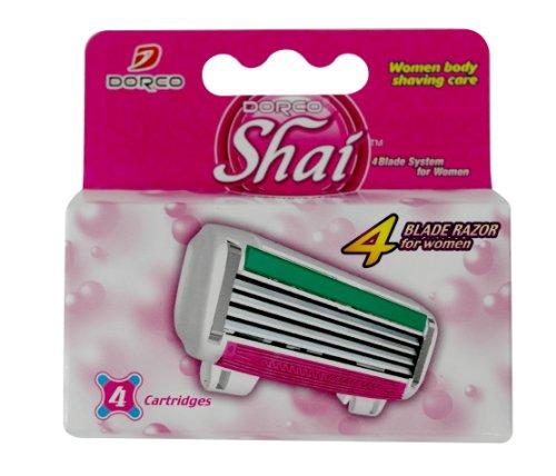 ドルコ Shai 4枚刃 女性用替刃式カミソリ 替刃 4コ入