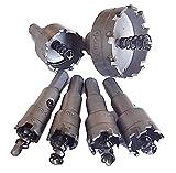 高速度鋼 製 ホール ソー 6点 セット 穴あけ (直径 16 18 20 22 32 50 mm ) 切削 工具 DIY