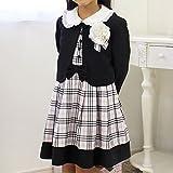 912323(チェック柄) 入学式 子供服 女の子スーツ4点セット ワンピース 卒園式 発表会 結婚式 [サクラスマイル] SAKURA smile 110cm