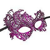 Auntwhale ハロウィンマスク大人恐怖コスチューム、パーティーファンシー仮装ハロウィンマスク、フェスティバル通気性ギフトヘッドマスク - パープル
