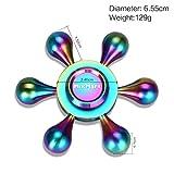 MixMart スピナー 平均4~7分 6枚翼 水道 指スピナー フィジェットスピナー 高速回転 ハンドスピナー フォーカス 玩具 Hand Spinner 指遊び Fidget Spinner 暇つぶし セラミックのボールベアリング