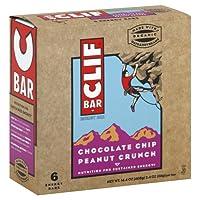 Clif Organic Chocolate Chip Peanut Crunch Bar, 2.4 Ounce - 6 per pack -- 6 packs per case. by Clif Bar