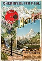 モンローズアルプス、フランス鉄道旅行ポスター16.5x11.7 A3 平行輸入