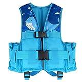 ライフジャケット - HeySplash 救命胴衣 フローティングベスト 子供用 耐荷重23kg-40kg フリーサイズ BLUE