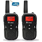 iCore Walkie Talkies for Kids Rechargeable, Toys Long Range 2 Way Talkie Radios (Pair) for Girls Boys, Discovery 22 Channel F