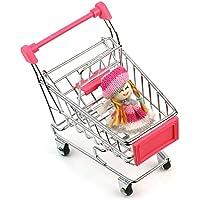 Lanlan Mini Supermarket Handcart Shopping Utility Cart Pink 1pcs