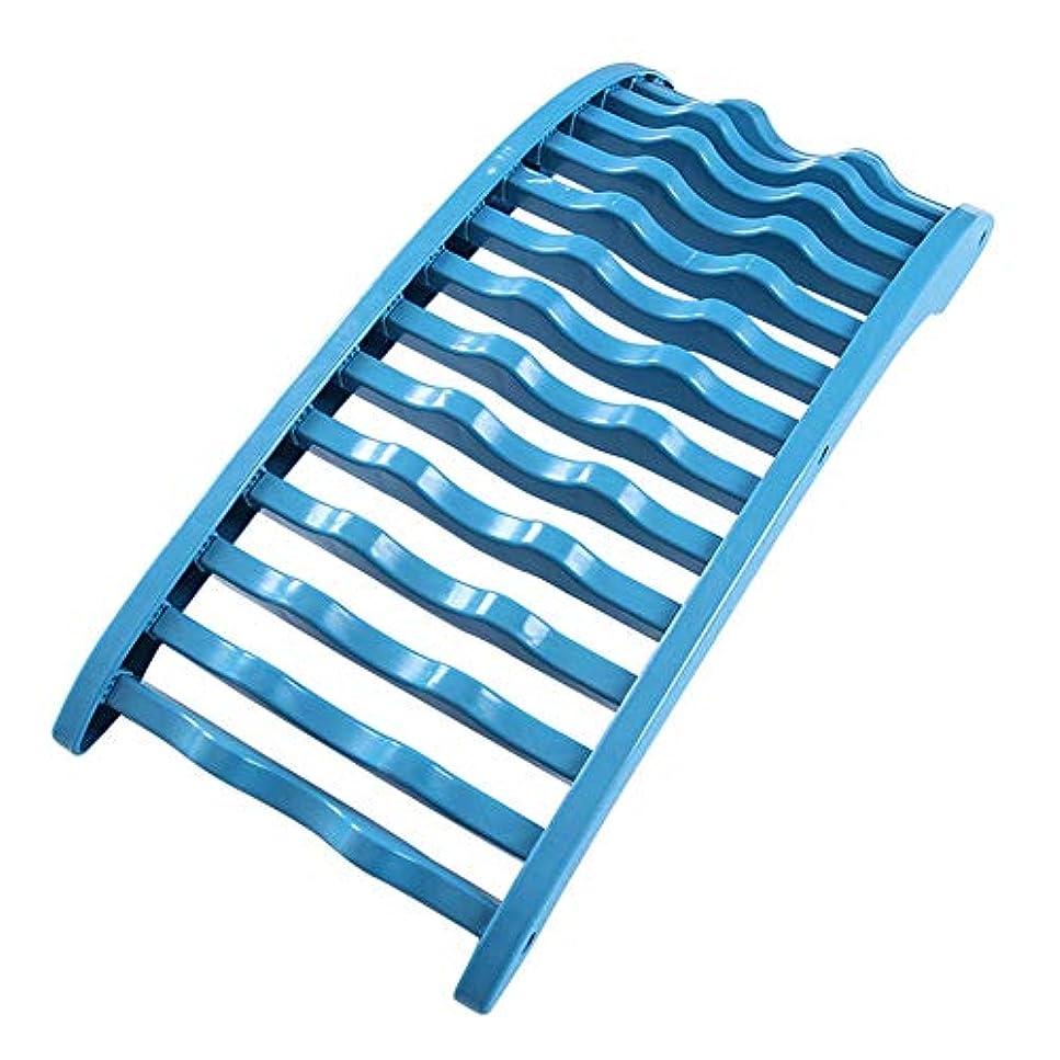 の量ラッカスノーブル背中バキバキ バックストレッチャーバックサポーター腰痛 - 背中の痛みの救済マッサージ脊椎解凍筋肉の痛みを軽減するための脊椎牽引装置