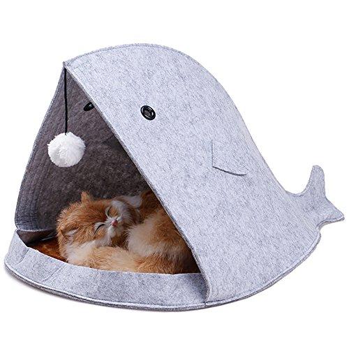 ネコベッド Hosam ネコソファ ベッド 猫 クジラ 折り畳み式 可愛い ...