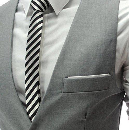 メンズ 人気ブランド メンズ ジレ ベスト スリム フィット スーツサイズ 対応 (M,L,XL,XXL) (XL, GREY)