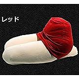 【 面白 ネタ 】 ミニ スカート ひざ 枕 クッション 優しい 肌触り 高 品質 ストレス 解消 安心 癒し 安眠 快眠 MI-HIZAMA (レッド)