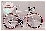 【超軽量】ロードバイク TOTEM 11B404 白 超軽量アルミフレーム 700×48cm ライト+鍵