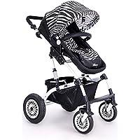 赤ちゃんのベビーカーのプッシュチェア、軽量の傘の車1-3歳のベビーカーは、座ったり、ショックを吸収したりすることができます高風景の折り畳み式 (色 : W)