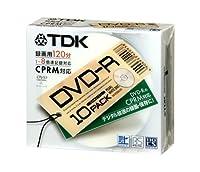 TDK 録画用DVD-R 10枚 5mmケース 1-8倍速 CPRM対応 [DVD-R120DALX10U]