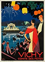 Vichy – Comite Des Fetesヴィンテージポスター(アーティスト: Broders , Roger )フランスC。1926 24 x 36 Giclee Print LANT-62292-24x36