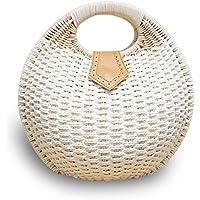 手織りわらバッグ シェルビーチバッグ ハンドバッグ ビーチバッグ キャンプバッグ 夏休み 女性のトップファッションハンドバッグ