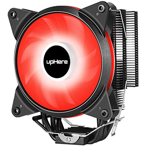 Novonest サイズオリジナル設計 120mmサイドフロー型CPUクーラー 赤いLEDファンを搭載した 静音 [Intel/AMD両対応]【AC12RD】…
