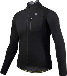 【サンティック】Santic メンズ サイクルジャケット 長袖 サイクルジャージ サイクルウェア 自転車ウェア 防風防寒 秋冬用 ブラック M