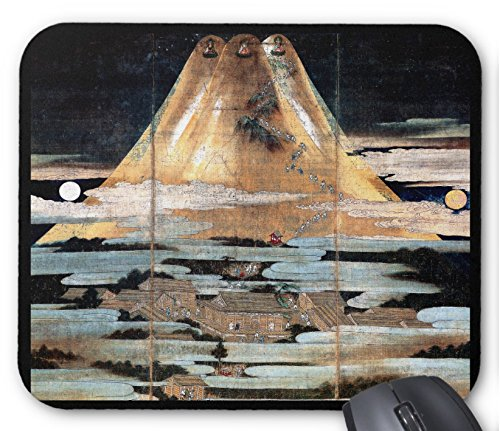 狩野元信印『 富士曼荼羅図 』のマウスパッド:フォトパッド*( 日本の名画シリーズ ) (B)