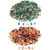 F Fityle 200g Stone Beads Chips Multicolor Loose Stone Microlandschaft Phone Case DIY