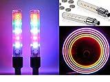 5LED ホイールフラッシュ バルブライト スイッチ付7パターン点滅点灯 2本セット