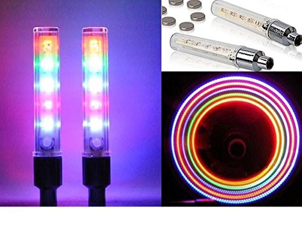 責任者最後に従順5LED ホイールフラッシュ バルブライト スイッチ付7パターン点滅点灯 2本セット