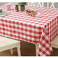 テーブルクロスポリエステル繊維長方形ホテルテーブルカバー家庭用 チェック柄のテーブルクロステーブルマット キッチンパストラルレストラン丸型ダイニングテーブル屋外または屋内ピクニックガーデンキッチン用