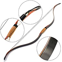 Toparchery伝統的な手作りのトルコRecurve弓ストリングパッドアーチェリーハンティング30-45lbsで高速スピード