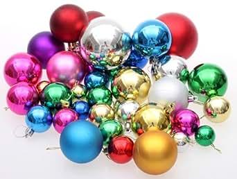 【ノーブランド】オーナメント ボール 【36個セット】 クリスマス/ツリー/リース/飾り/パーティーグッズ ball36