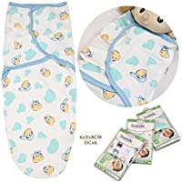 Neat and Lightweight 100% Cotton Completely Breathable Infant Wrap Blanket Eco Friendly Quick Drying Available in Multi Printed Pattern Small Lightweight Suitable for All Infants (Cow) [並行輸入品]