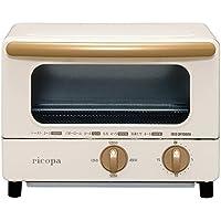 アイリスオーヤマ オーブントースター トースト2枚 4段階温度調整機能付き ricopa アイボリー EOT-R1001-C