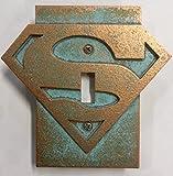 (Aged Patina) - Superman Logo - Light Switch Cover (Aged Patina)