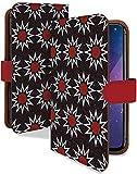 iPhone XS ケース 手帳型 エスニック 赤 黒 アジアン ファッション スマホケース アイフォンテンエス アイフォン10S アイフォーン アイホン テンエス エックス 手帳 カバー IPHONEXS xsケース xsカバー 太陽 タイヨウ [エスニック 赤 黒/t0711d]