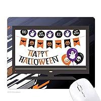 ハロウィン死体恐怖の幽霊の旗 ノンスリップラバーマウスパッドはコンピュータゲームのオフィス