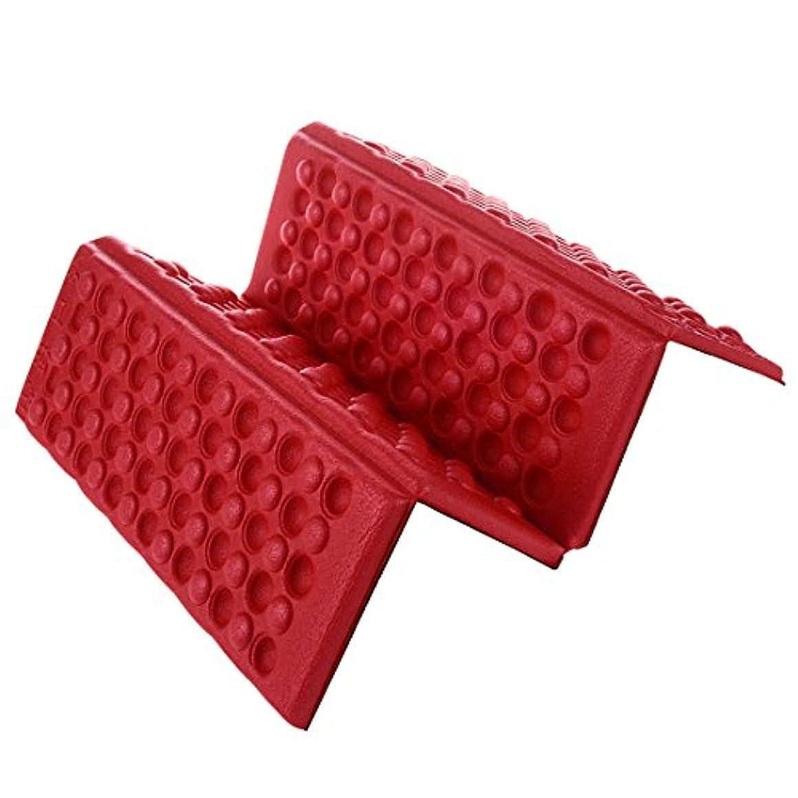見ましたベッド非難Gaoominy 個性的な折りたたみ泡の防水シート パッド 椅子 クッション 赤